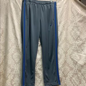 Nike Grey w Blue Stripe MidWeight Track pants Lrg